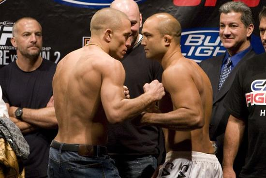 Georges St. Pierre (left), B.J. Penn (right)